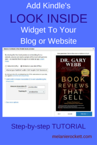 Tutorial for adding the LOOK INSIDE feature to any Kindle book on your website or blog.