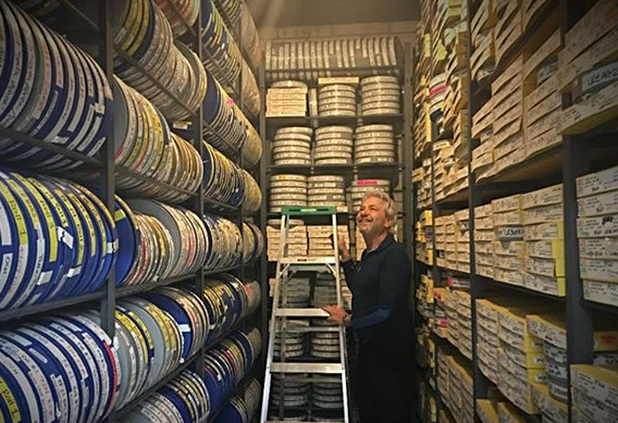 Louie Schwartzberg and his vault filled with his amazing videos and time-lapse photography